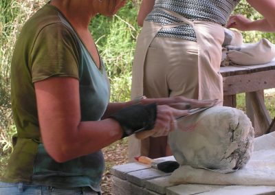 cursisten beeldhouwvakantie Hester Glasbergen